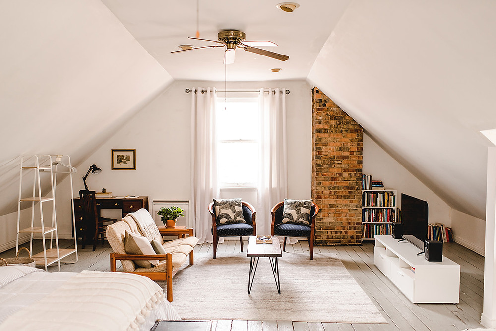 Attic converted to Airbnb vacation rental