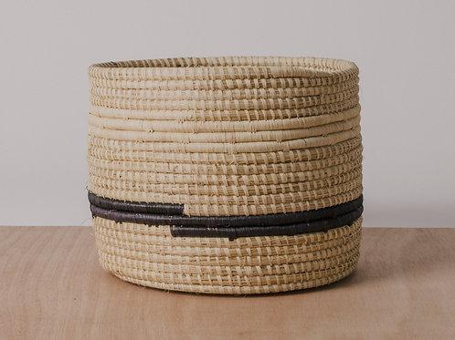 Striped Black + Natural Storage Basket II