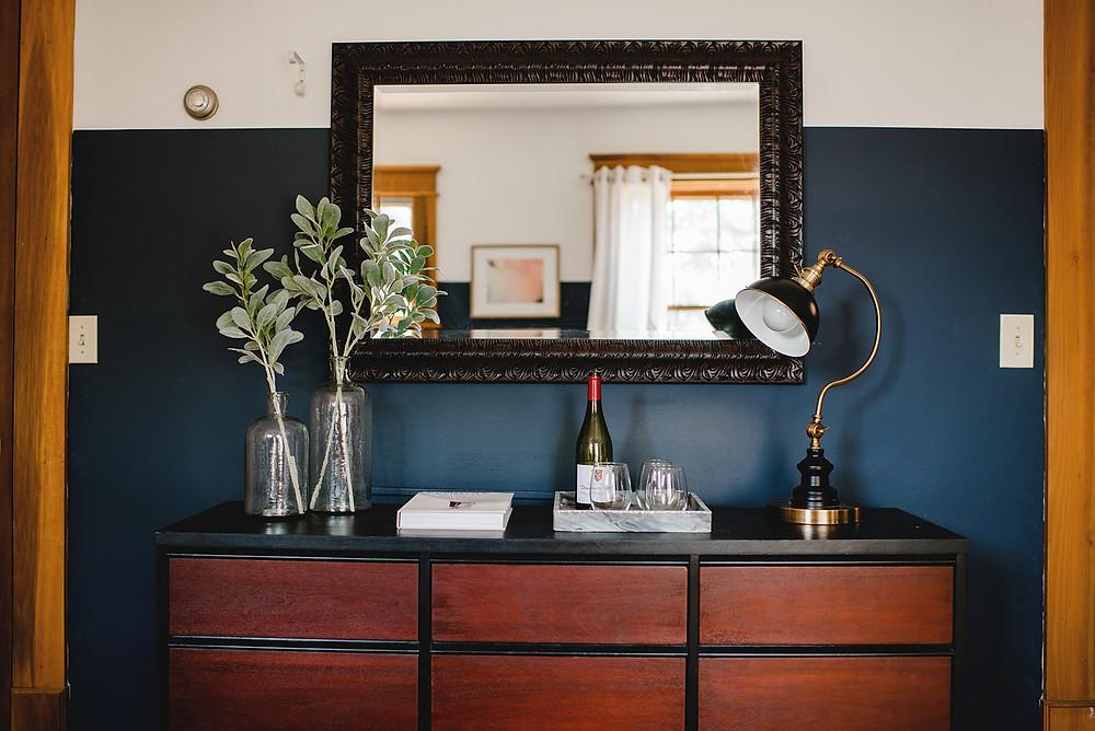A bedroom dresser arrangement by Lauren Figueroa.