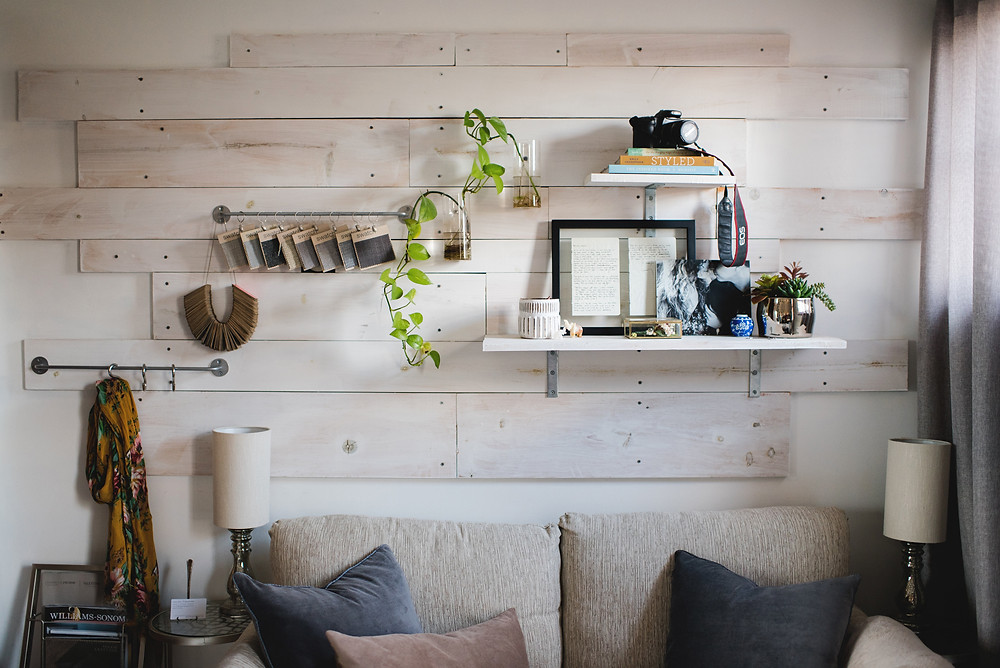 floating shelves and decor