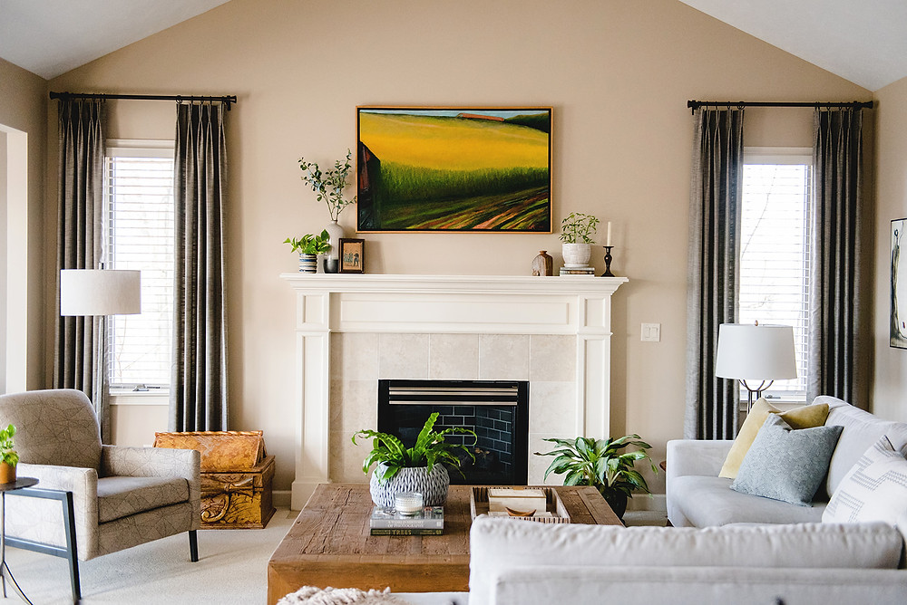 a living room designed by Lauren Figueroa