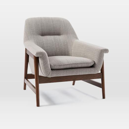 A modern chair from West Elm.