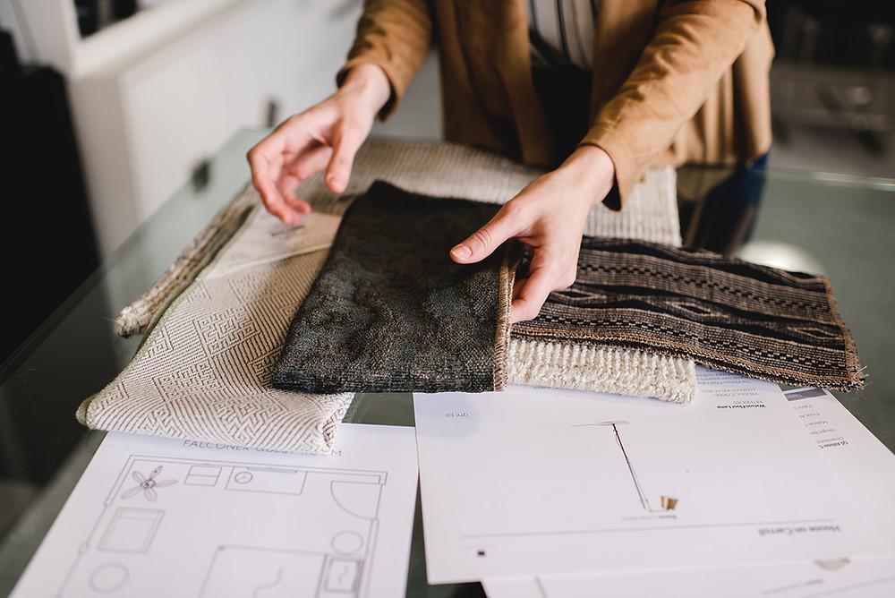 Lauren Figueroa Interior Design, Fabrics and Design Plan