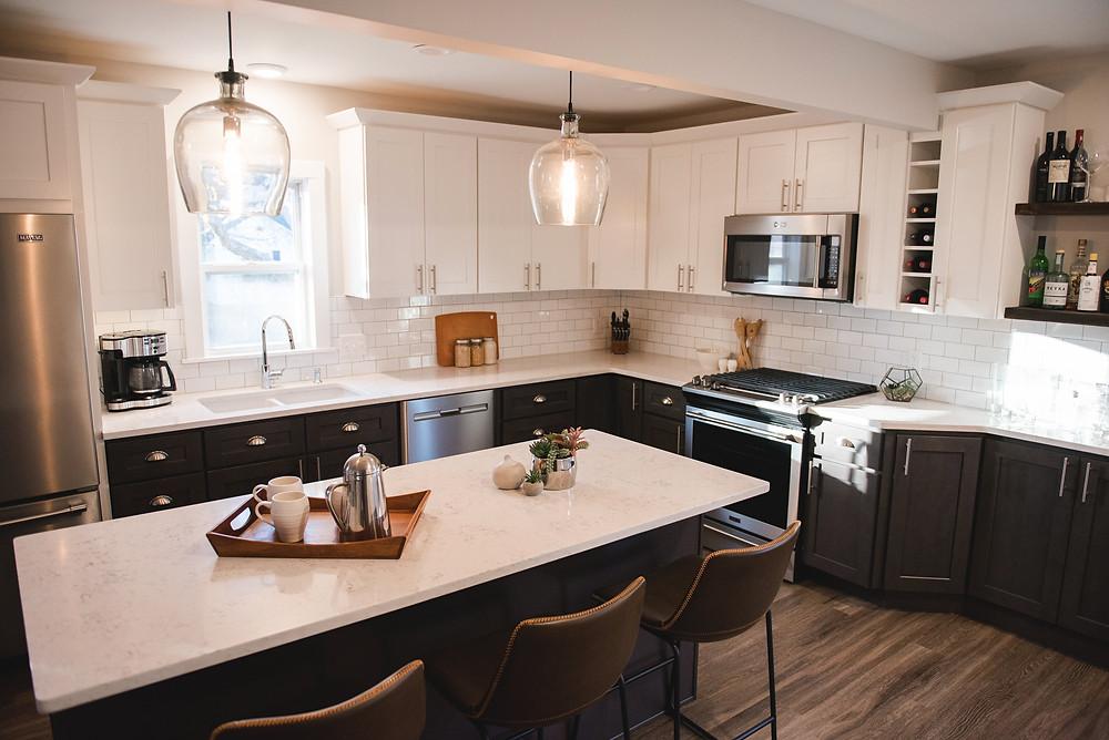 The completed kitchen designed by Lauren Figueroa Interior Design.