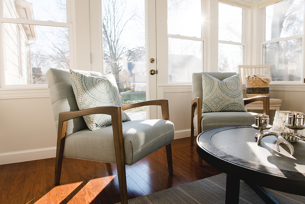 The table and chairs selected by Lauren Figueroa, principal designer.