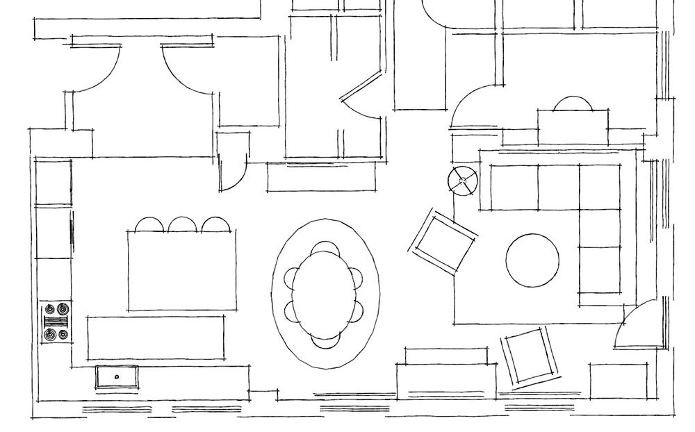 furniture layout for fitzgerald condo by lauren figueroa interior design
