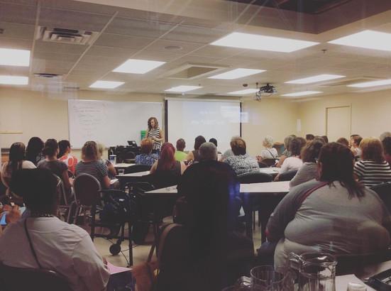 The Principal Designer At Georgia Pear Interiors Teaching A Design Class