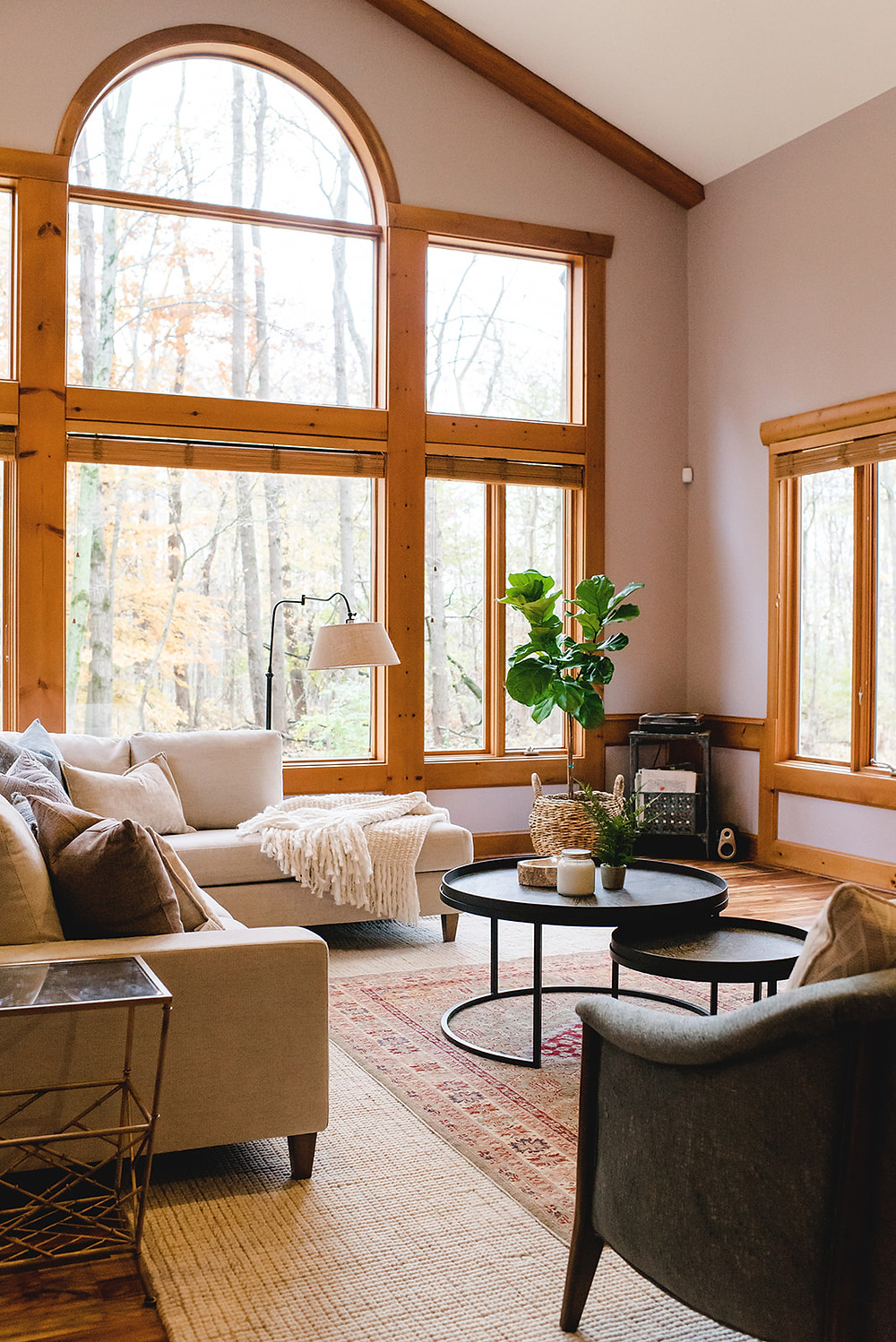 The cottage style living room.