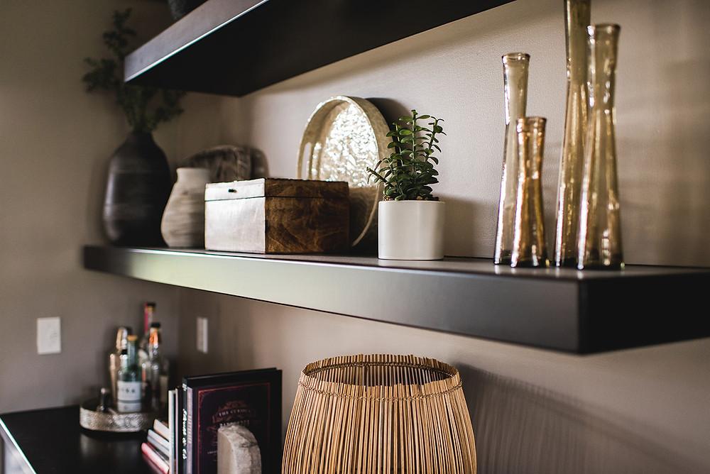 One of the shelves arranged by Lauren Figueroa.