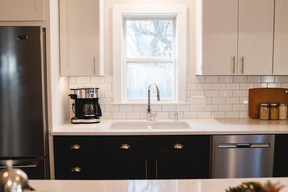 A modern kitchen design by Lauren Figueroa.