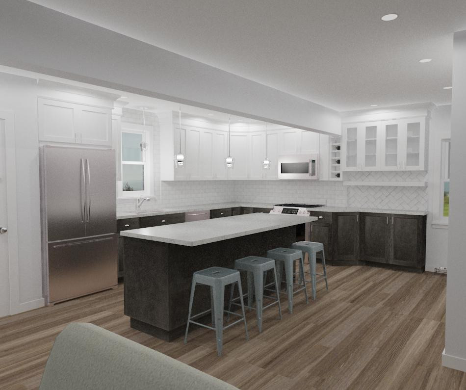 An alternate rendering by Complete Flooring and Interiors.