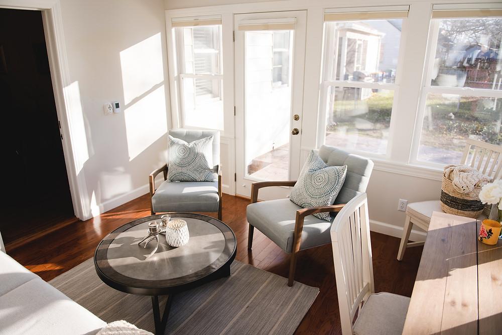 bright airy sunroom design grand rapids michigan interior designer