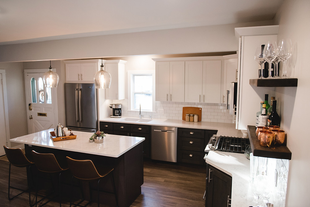 The completed kitchen remodel by Lauren Figueroa.