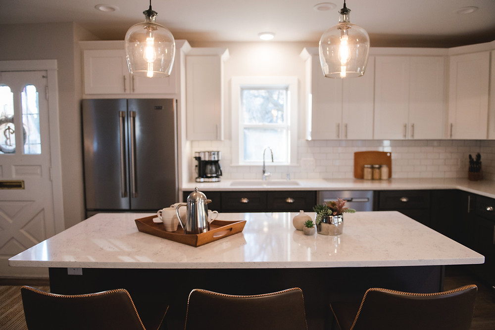 A photo of a kitchen remodel completed by Lauren Figueroa.
