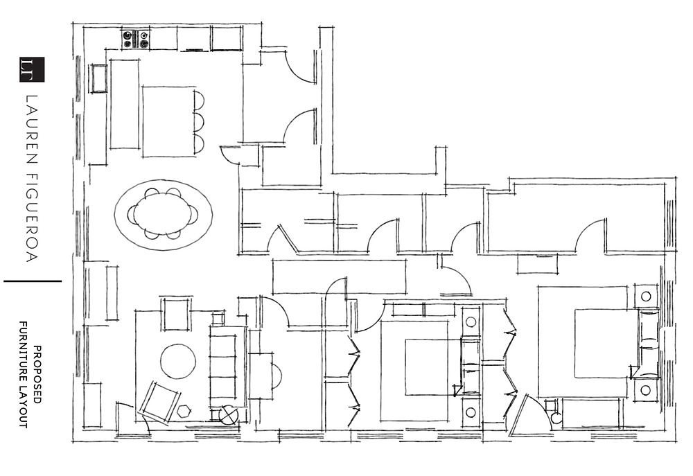 condo floor plan by lauren figueroa interior design
