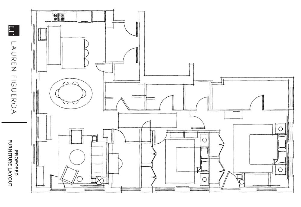 interior design condo remodel floor plan