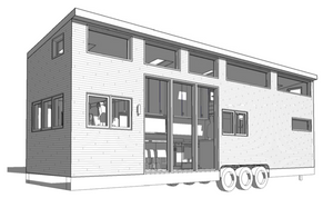 A sketch of our tiny house by Blue Tree Home.