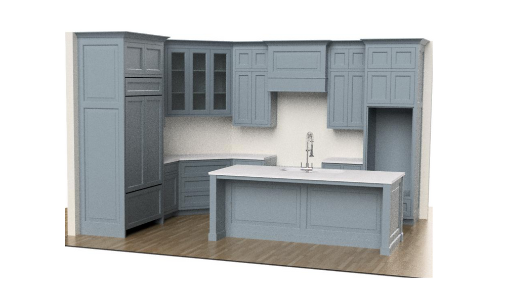 Kitchen Rendering by Lauren Figueroa