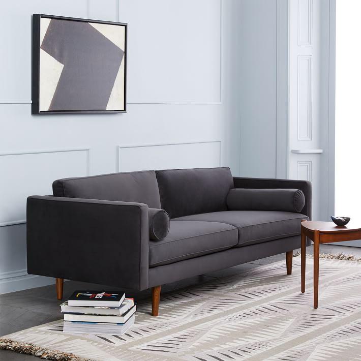 A modern sofa from West Elm.