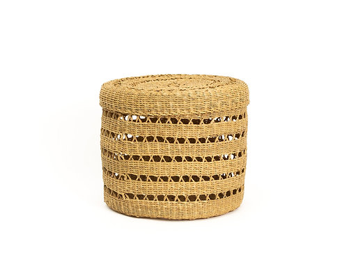 Lidded Lace Grass Box