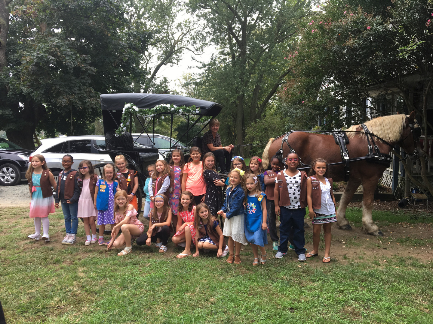 Girl Scouts Carriage Ride