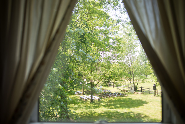 View of ceremony site from the Rooster Room