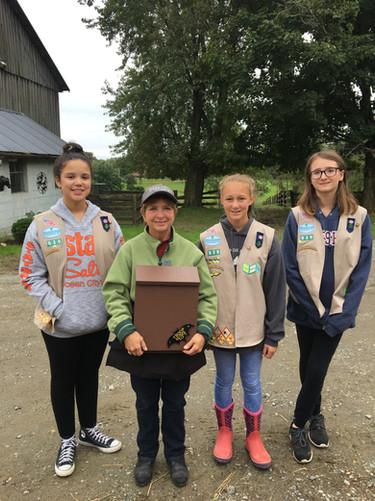 Girl Scouts give JoAnn a Bat House