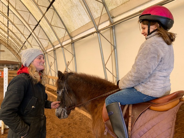 Riding lesson with Sydney