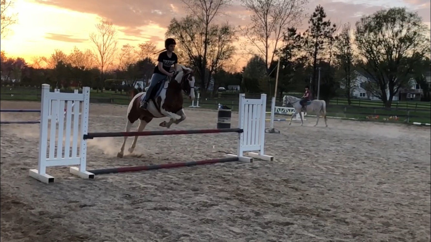 Riding lessons at sunset