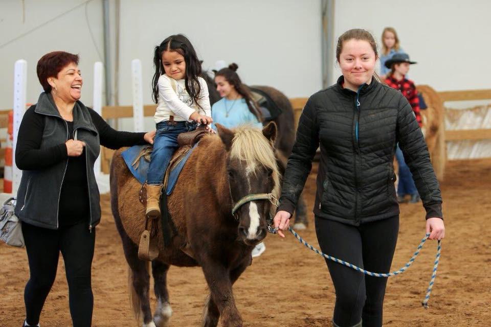 Pony rides at Family Day on the Farm