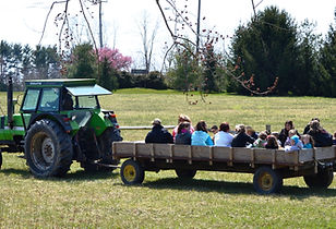Hay ride at our farm