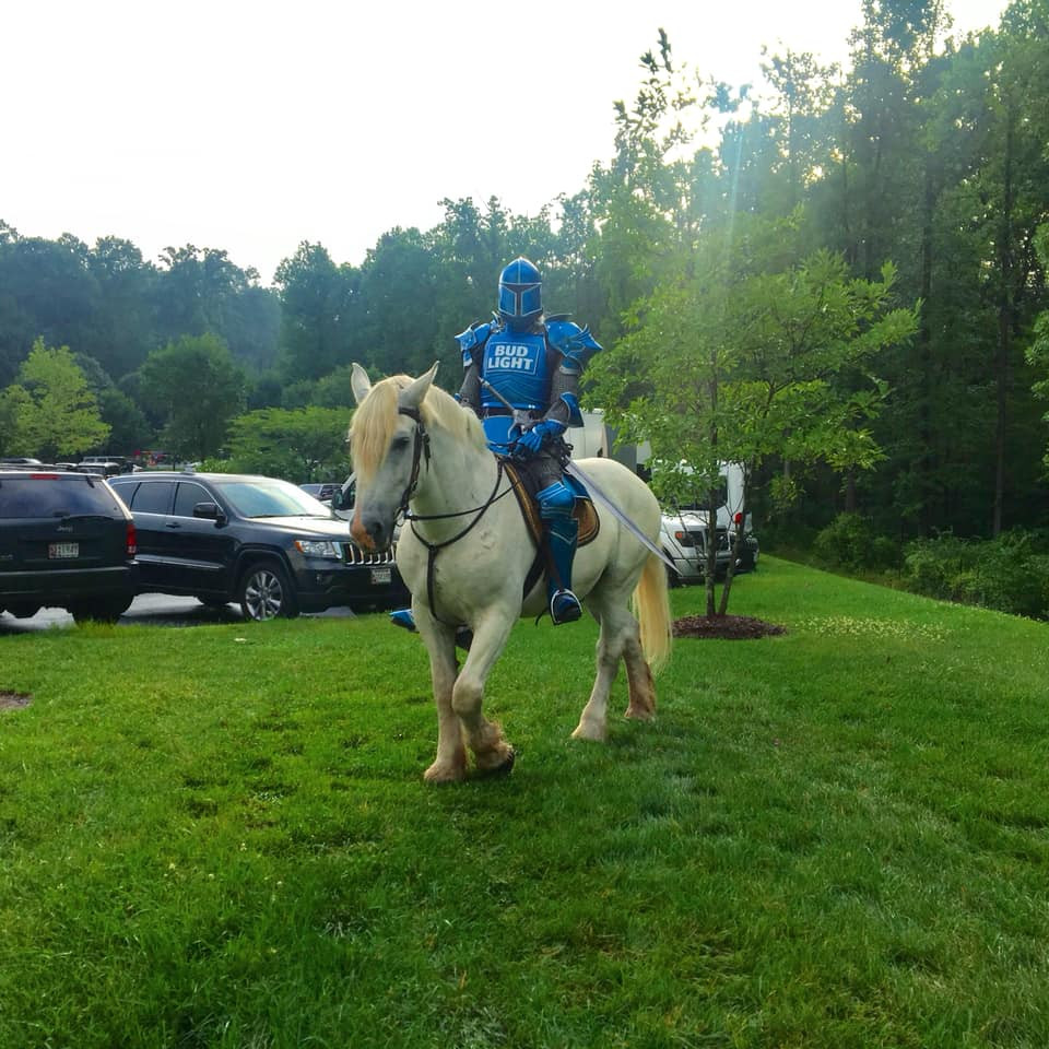 Our horse Barney, steed for the Bud Light Knight