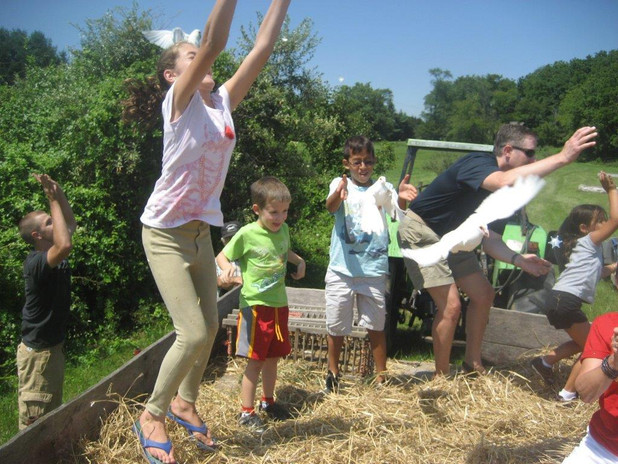 Hay Ride with Pigeon Release