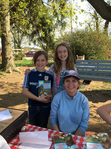 Book signing with Girl Scouts