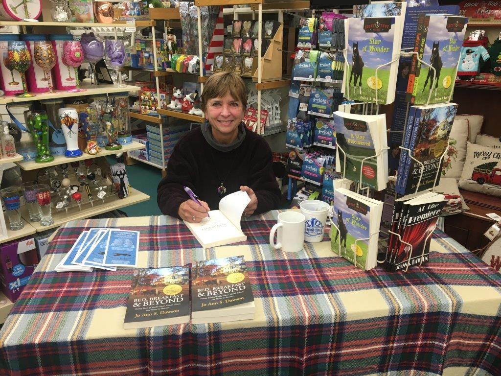 JoAnn S. Dawson at a book signing