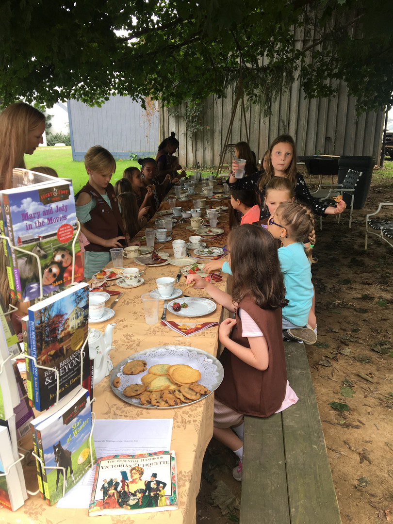 Girl Scouts Tea Party
