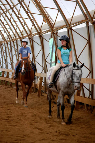 Riding lesson in our indoor ring