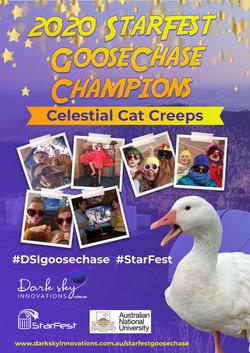 Celestial Cat Creeps 2020 StarFest Goose