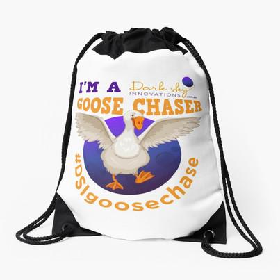 I'm a Dark Sky Innovations Goose Chaser Drawstring Bag