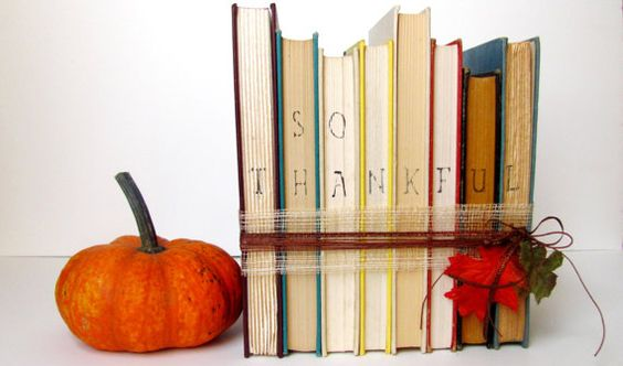 upcycled books- thanksgiving