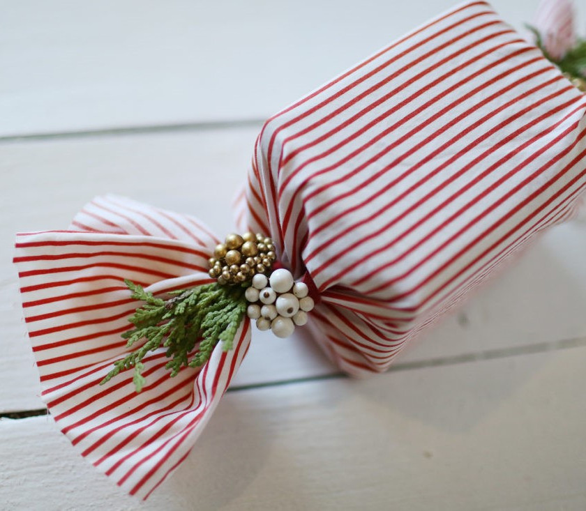 scrap cloth wrapping