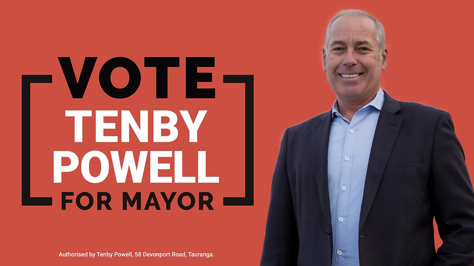Tenby Powell talks about his campaign to become Mayor of Tauranga and why the region is imporant to him