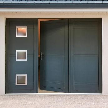 porte de garage battante 3 vantaux alu p