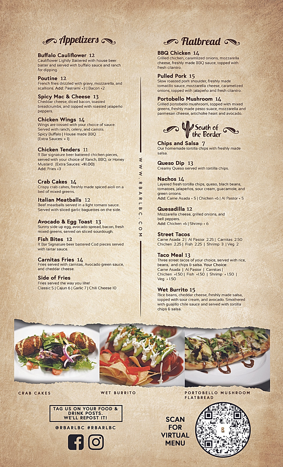 R BAR - New Menu Front Page 8.5x14 (12-3