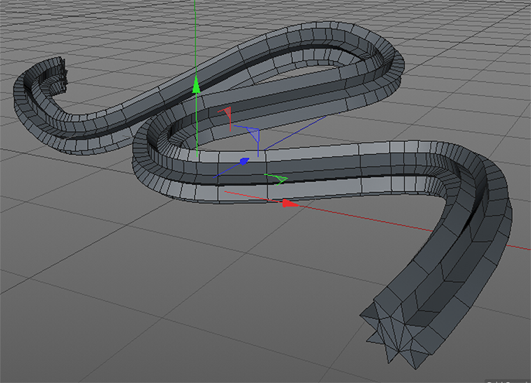 the basic result is the shape applied as an extrusion all the way along the spline object.