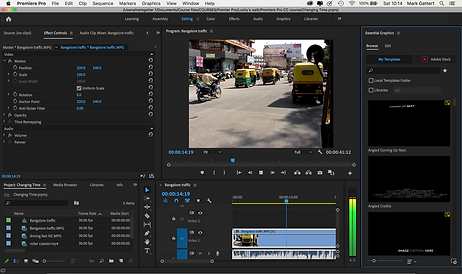 this shows a possible project in adobe premiere pro