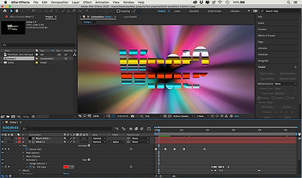this image shows some of the things you can do with adobe after effects