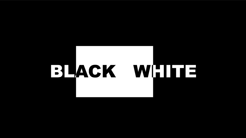 the javascript allows the words to show through the white rectangle, but in black