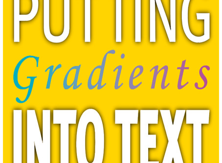 Adobe Illustrator CC: Filling text with a gradient