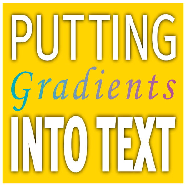 an image showing text filled with a gradient